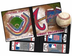 Atlanta Braves Ticket Album - A Ticket Album is a photo album for your tickets and allows you to create a table-top display that will keep the memories of the games you've attended as fresh as the day you were there. Also makes an ideal item to present tickets as a gift. www.thatsmyticket.com
