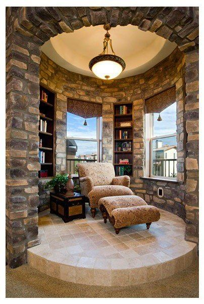 Awesome Old World reading nook | Charisma Design ᘡղbᘠ