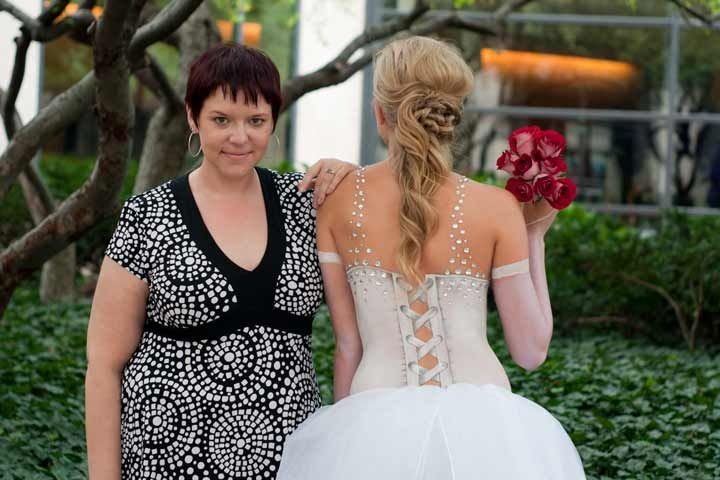 Body paint wedding dress