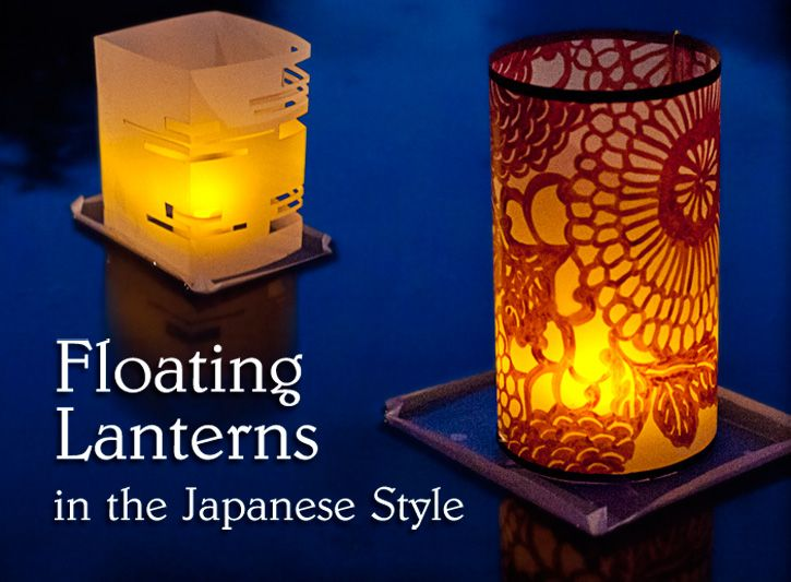 In Japan, many cities hold a beautiful yearly event called Toro Nagashi - the festival of Floating Lanterns. Those who participate inscribe names, messages and drawings on paper lanterns attached to a wood or bamboo base, place a candle inside, and set the lanterns afloat in a lake or river.