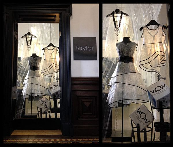 Our Wellington Boutique's window display created especially for World of Wearable Arts in Wellington
