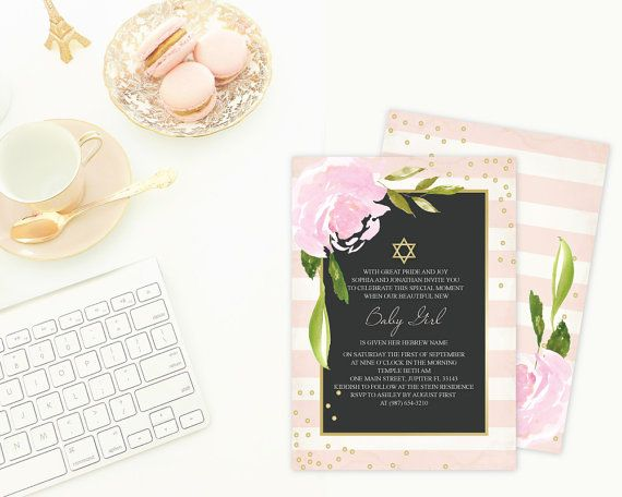 95 best Invitations You Can Edit images on Pinterest Printable - naming ceremony invitation