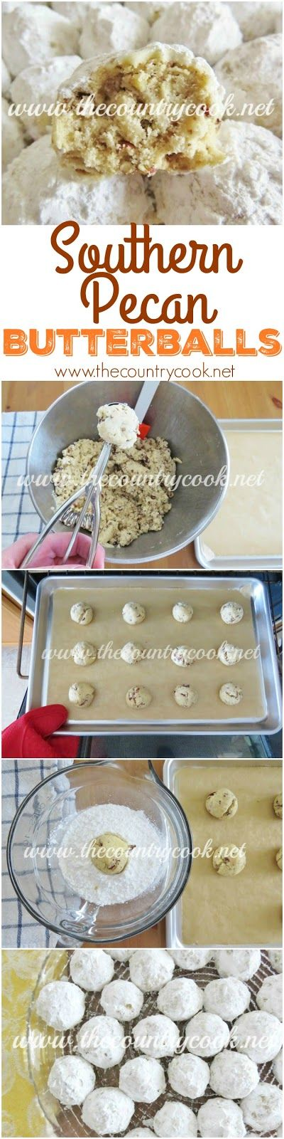 Southern Pecan Butterballs Recipe From The Country Cook Also Known As Mexican Wedding Cookies