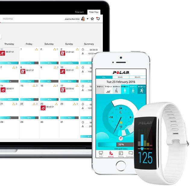 Une montre étanche avec suiveur de condition physique, cardiofréquencemètre sans ceinture et écran tactile couleur. Personnalisez la couleur de votre bracelet d'activité Polar. En savoir plus.