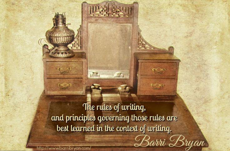 Writing quote by Barri Bryan ~ http://www.desertbreezepublishing.com/bryan-barri/