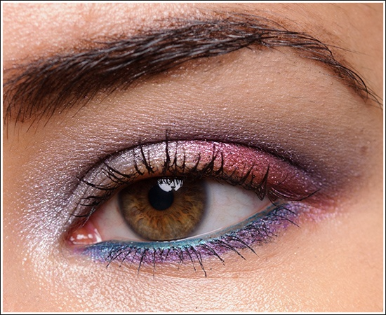 turquoise eyeliner with purple and pink eyeshadowL Oreal Infallible, Liquid Diamonds, Pink Eyeshadows, Lower Lashes, Burberry Trench, Colours Eye, Lower Water, Glistening Garnet, Infallible Eyeshadows