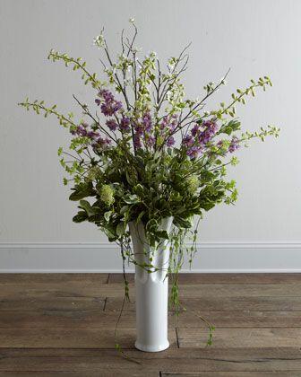 """""""Delphinium Blossom"""" Faux Floral Arrangement by Florence de Dampierre at Horchow."""