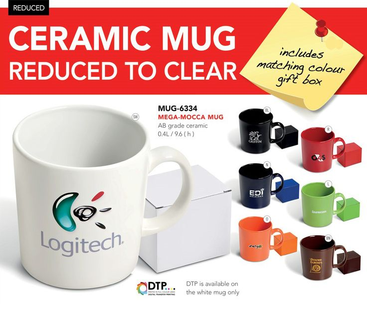 Ceramic Mugs Reduced To Clear
