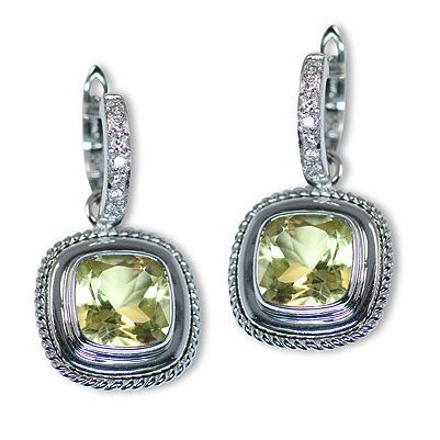And here is one more eye-catching colorful gem stone earrings - Parris Jewelers #jewelry