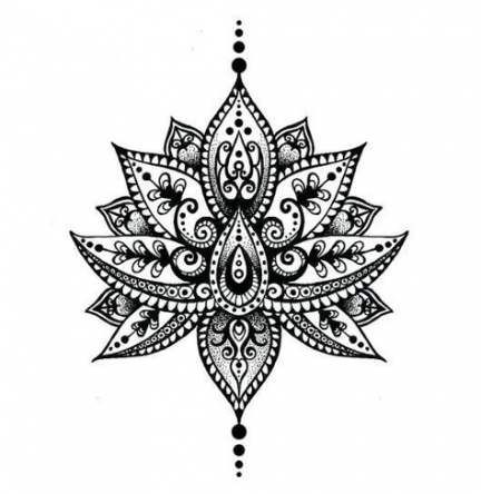 28+ New Ideas flowers drawing design tattoo lotus mandala