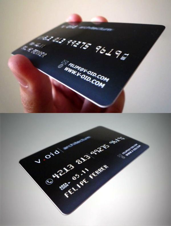 20 best credit card images on pinterest credit cards business void architects unique business card reheart Image collections
