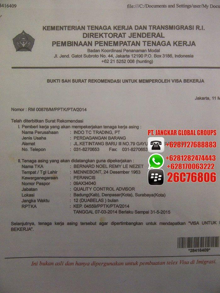 Rekomendasi Tenaga Kerja Surat, Gambar, Indonesia