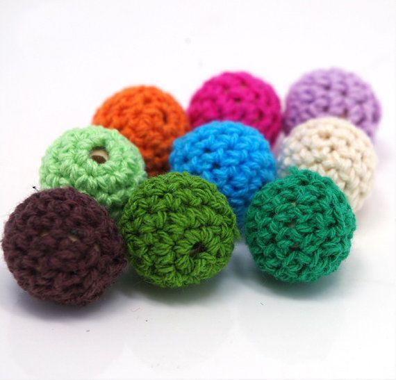 Crochet Beads Bulk Wholesale Multicolor 80pc/lot 16mm Round
