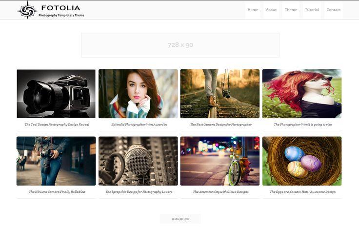 Fotolia Photography Blogger Template é um template blogger para blog de fotografia, portfólio, galeria e etc. Com layout responsivo, Fotolia Photography tem 4 colunas, 1 sidebar direita, menu principal flutuante, ícones de compartilhamento social, posts relacionados, locais para posicionar anúncios e muito mais.