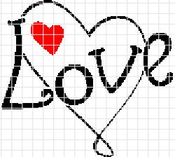 Simple Love Crochet Graphghan Pattern (Chart/Graph AND Row-by-Row Written Instructions) - 01
