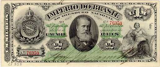 1000 Крузейро (1879) Бразилия (Brazil) Южная Америка