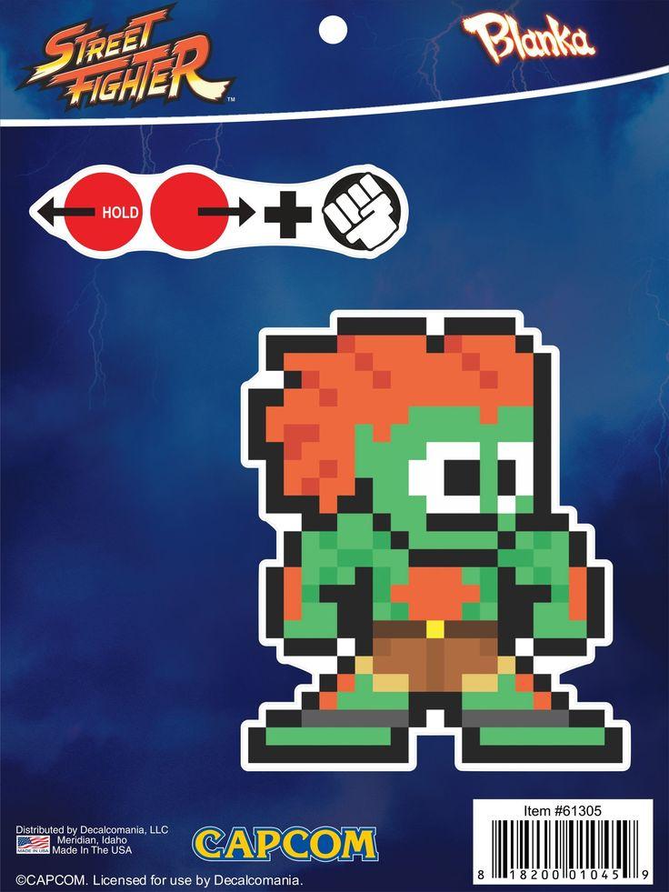 Street Fighter 8-Bit Blanka Sticker Decal