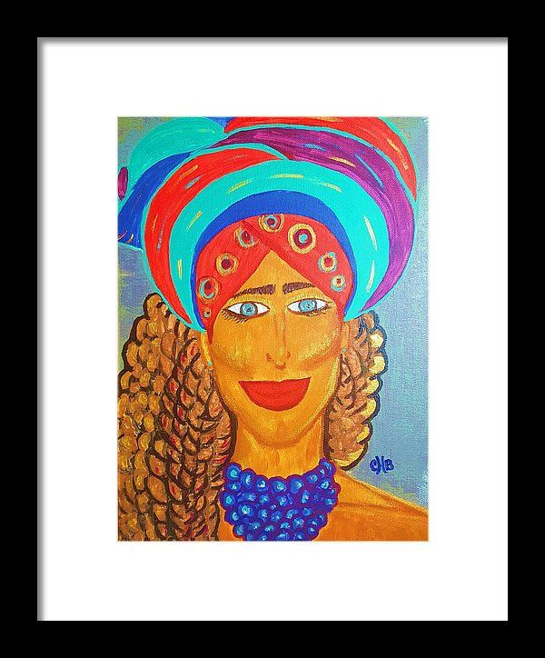 Caribbean Queen Framed Print featuring the painting Theresa Caribbean Queen by Chiquita Bowleg