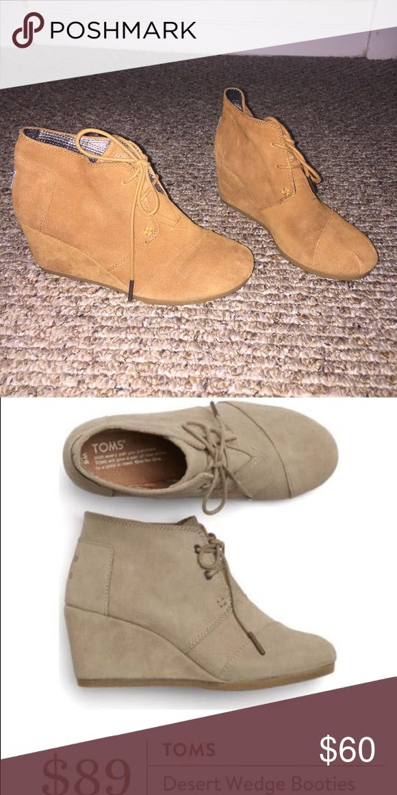 EUC STITCH FIX Toms Desert Wedge Boots EUC. Puppy-loving smoke-free home. Sorry-no trades. All offers will be considered but please be respectful of the brand and the condition :) 20-% discount if you bundle two or more items!  🛍 Happy Shopping! 🛍 TOMS Shoes Ankle Boots & Booties