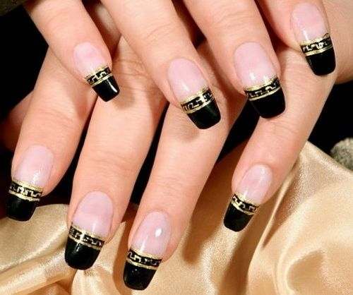 1000+ Images About Black Nail Art Designs On Pinterest
