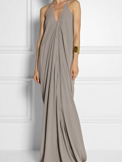 Rick Owens Aurora draped cady gown Size 2 Wedding Dress – OnceWed.com | Rick Owens Aurora draped cady gown | http://www.oncewed.com/used-wedding-dresses/rick-owens-aurora-draped-cady-gown/