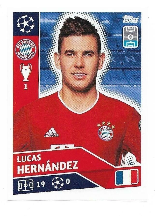 Champions League 2020 21 Topps N Bay9 Lucas Hernandez Bayern Munchen New 1 22 Champions League Fifa Teams League