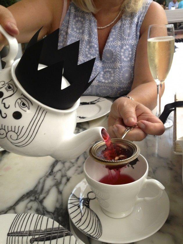 Rhubarb and Custard Tea! Mad Hatter's Afternoon Tea, Sanderson Hotel, Soho, London, Levanahloves