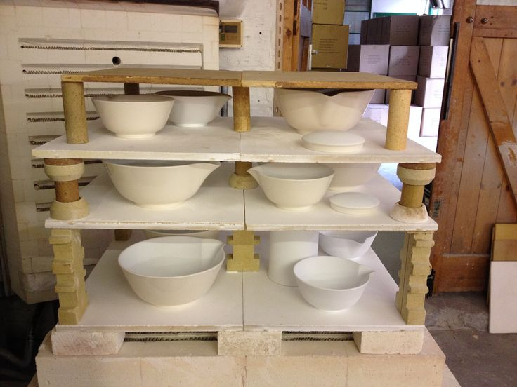 Bowls fresh from the Kiln.