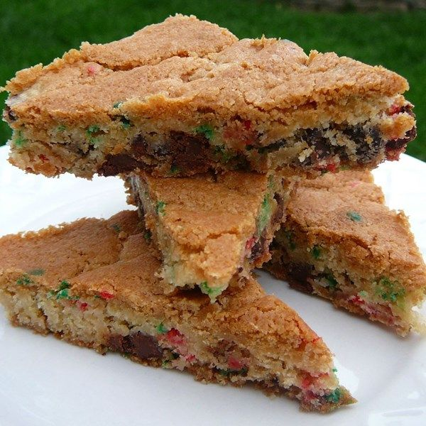 """Bar Cookies from Cake Mix   """"A bar cookie that has chocolate chips and nuts. This is easy and delicious."""""""