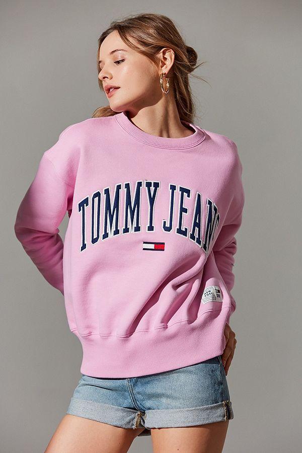 df6eeaa4 Tommy Jeans Collegiate Crew-Neck Sweatshirt | •SHOP• | Sweatshirts ...