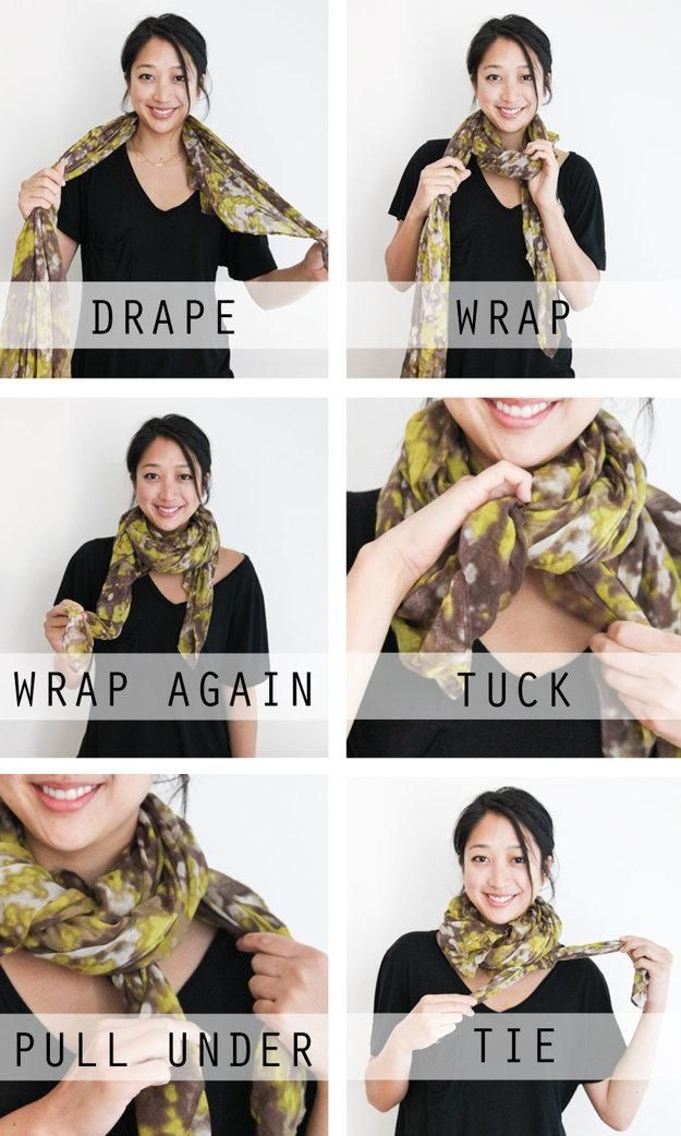 Fashion : How to wear a scarf 5 ways: One scarf, and five different fashionable ways to tie it