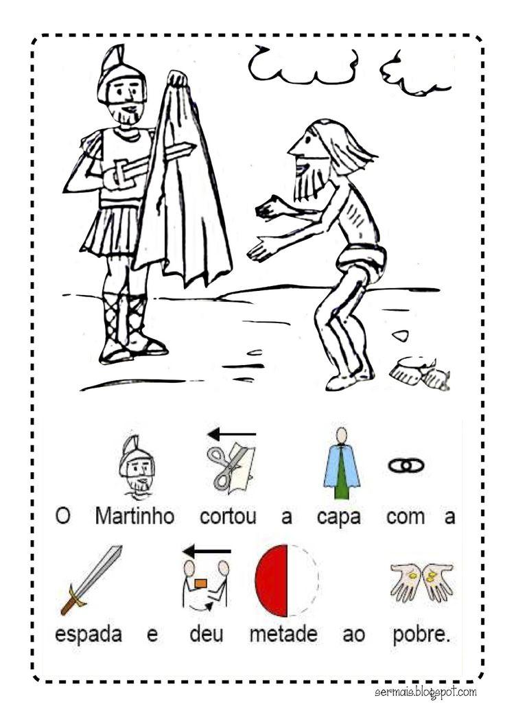 Um mês, um Santo: S. Martinho:              Para os mais pequenos colorirem:                              Adaptação: MTeresaGMoreira (Softwa...