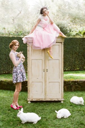Tea Party Dresses Ruche | photography by http://thismodernromance.com/