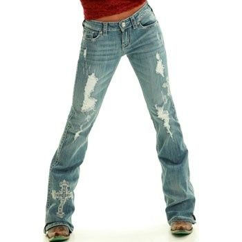 VICTORY WHITE COWGIRL TUFF JEANS by kristine