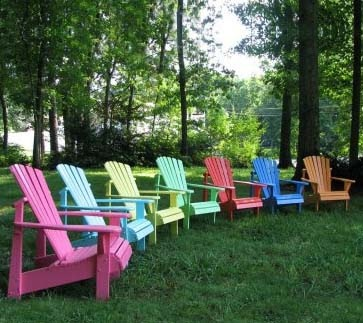 Love The Variety Of Colors These Plastic Adirondack Chairs Now Come In!
