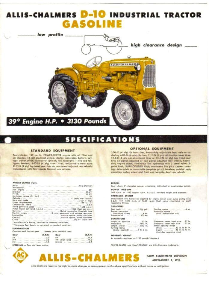 93 best allis chalmers images on Pinterest | Allis chalmers tractors ...