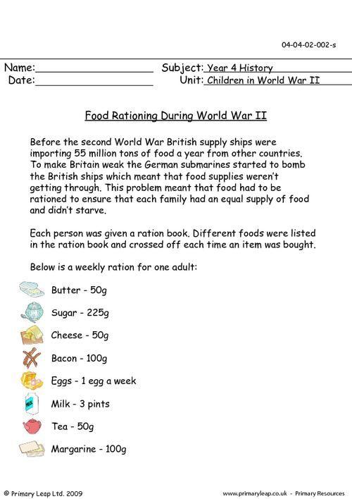 Primaryleap Co Uk Food Rationing During World War Ii