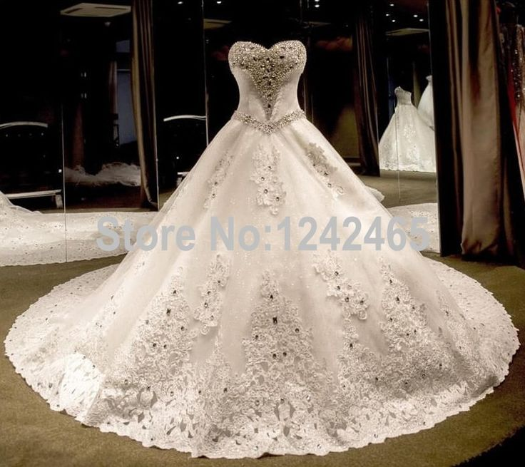 Find More Wedding Dresses Information About Puffy Sweetheart Luxury With Diamonds And Crystals Court