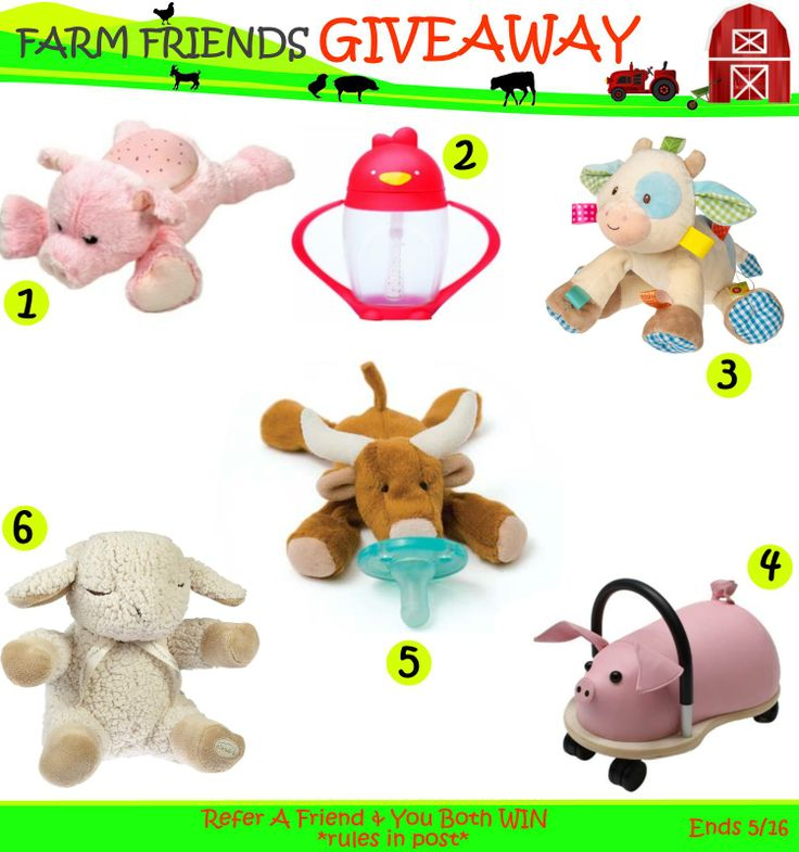 Come enter Our Farm Friends #giveaway! Contest ends Friday 05/16.