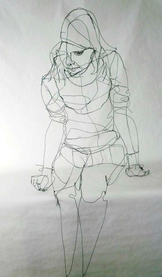 3D sketch Wire SculpturesSculpture IdeasHuman 34