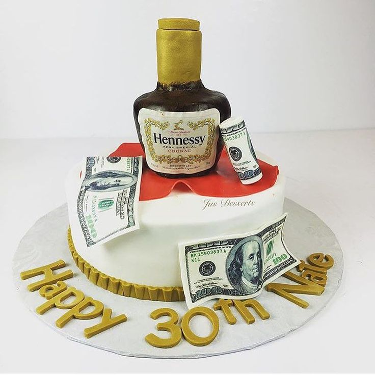 Great Hennessy Birthday Cake From Jus Desserts Complete