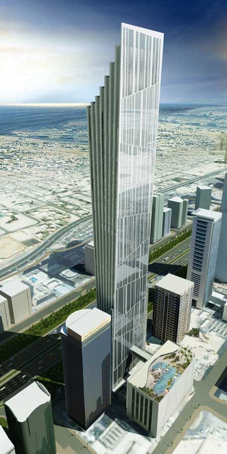P 17 Tower Dubai by Atkins Architects. 78 floors, 379m high.