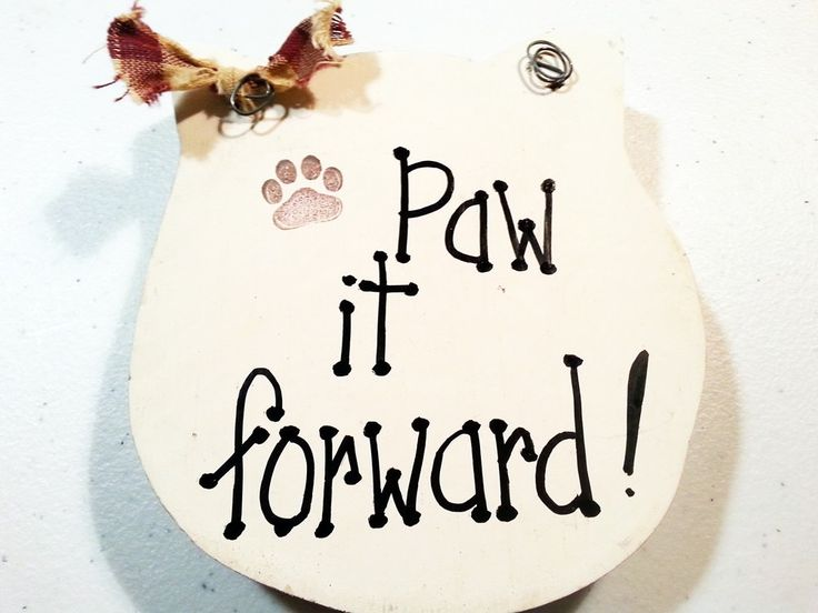 Cat sign, Paw it forward, feline gift by kpdreams on Etsy