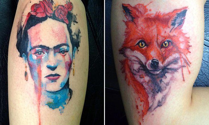 Aquarela na pele: conheça o fantástico trabalho desse tatuador brasileiro Victor Octaviano