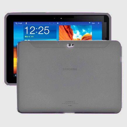 Soft Shell (Läpikuultava Harmaa) Samsung Galaxy Tab 10.1 P7500 Silikonisuojus