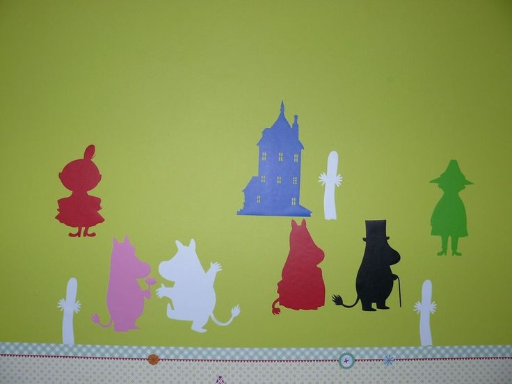 12 x Moomin Wall/Car/Window multi Color Stickers(Removable) Decoration Two size