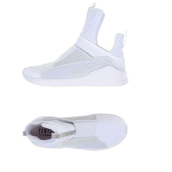 Puma X Rihanna Fenty Trainer White Not Kendall and Kylie these are Authentic Puma x Rihanna collaboration with puma sneakers EXCELLENT condition worn 2x comes with original box and Fenty Puma Dust bag to keep sneakers nice and clean for travel or storage purpose Puma Shoes Athletic Shoes