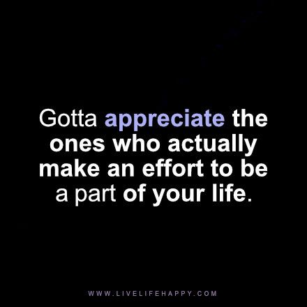 gotta appreciate the ones who                                                                                                                                                                                 More