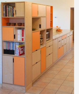 Lovely Plywood Kitchens, Green Not Orange