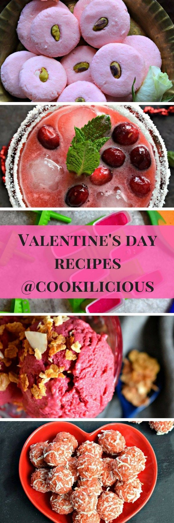 A collection of appetizing desserts to make this Valentine's day for your loved ones from Cookilicious.